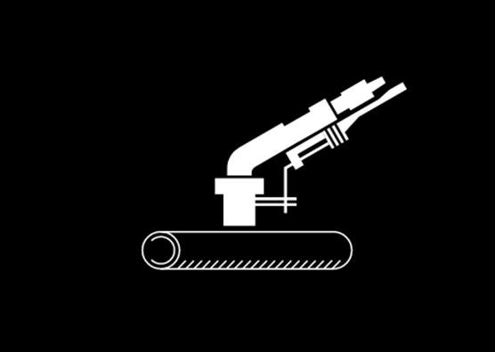 Komet Pivot Software - Gun on top of pipe